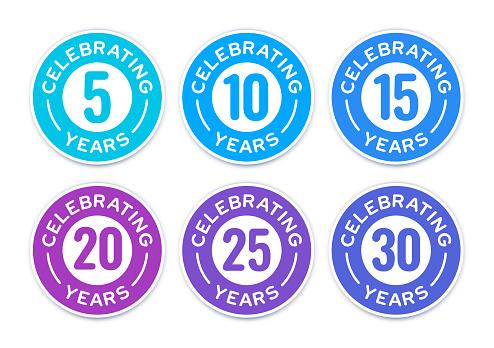 Celebrating Anniversary Years Badges