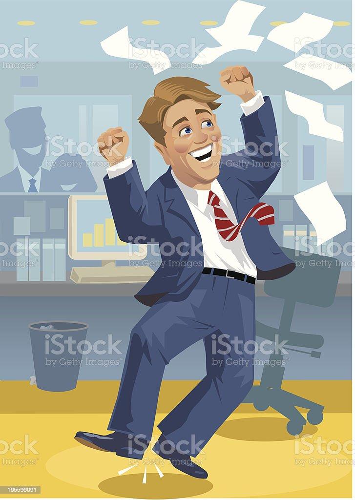 Celebrating Businessman royalty-free celebrating businessman stock vector art & more images of business
