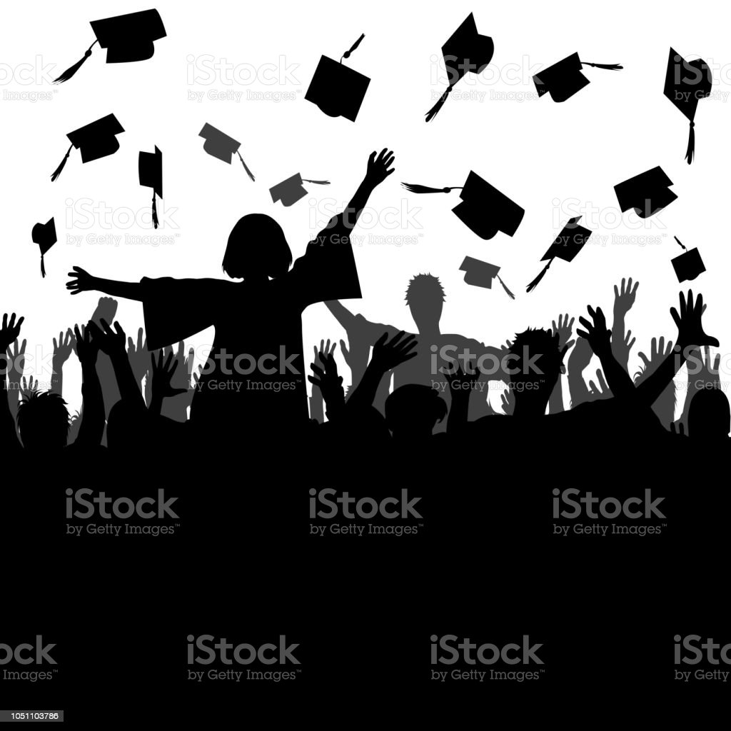 Celebrating graduation concept vector art illustration