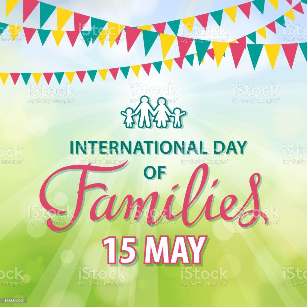 慶祝國際家庭日 - 免版稅15號圖庫向量圖形