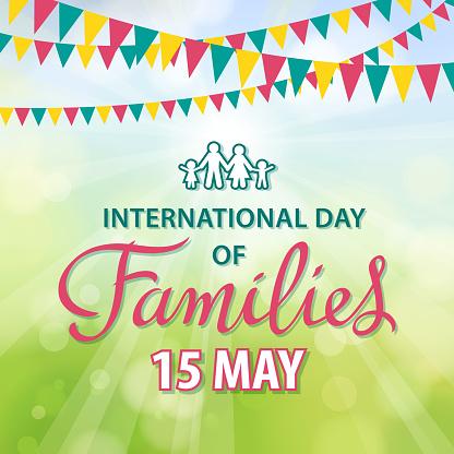 慶祝國際家庭日向量圖形及更多15號圖片