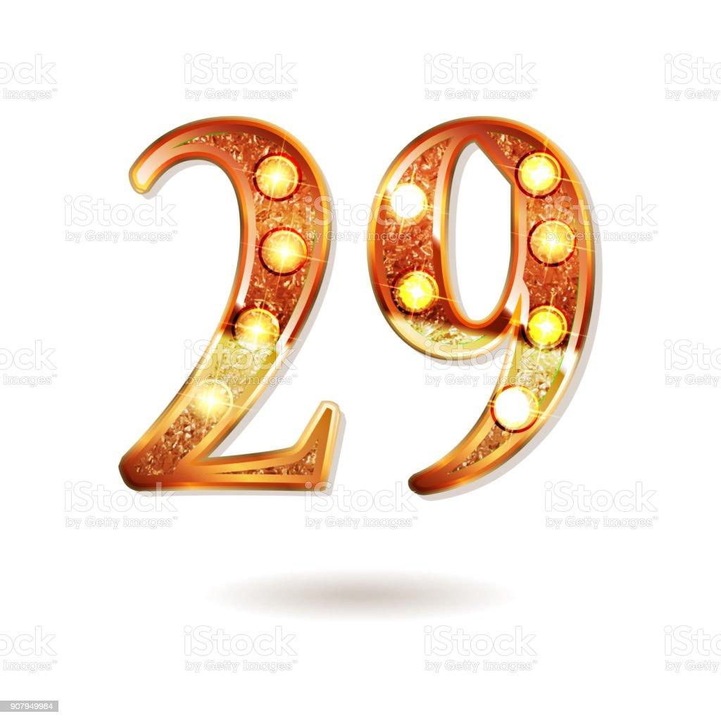 Celebrating of 29 years anniversary vector art illustration