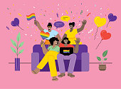 LGBTQI Pride Event. Editable vectors on layers.