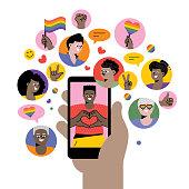 istock Celebrating Pride on social media 1250449474