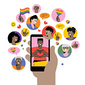 istock Celebrating Pride on social media 1250449474