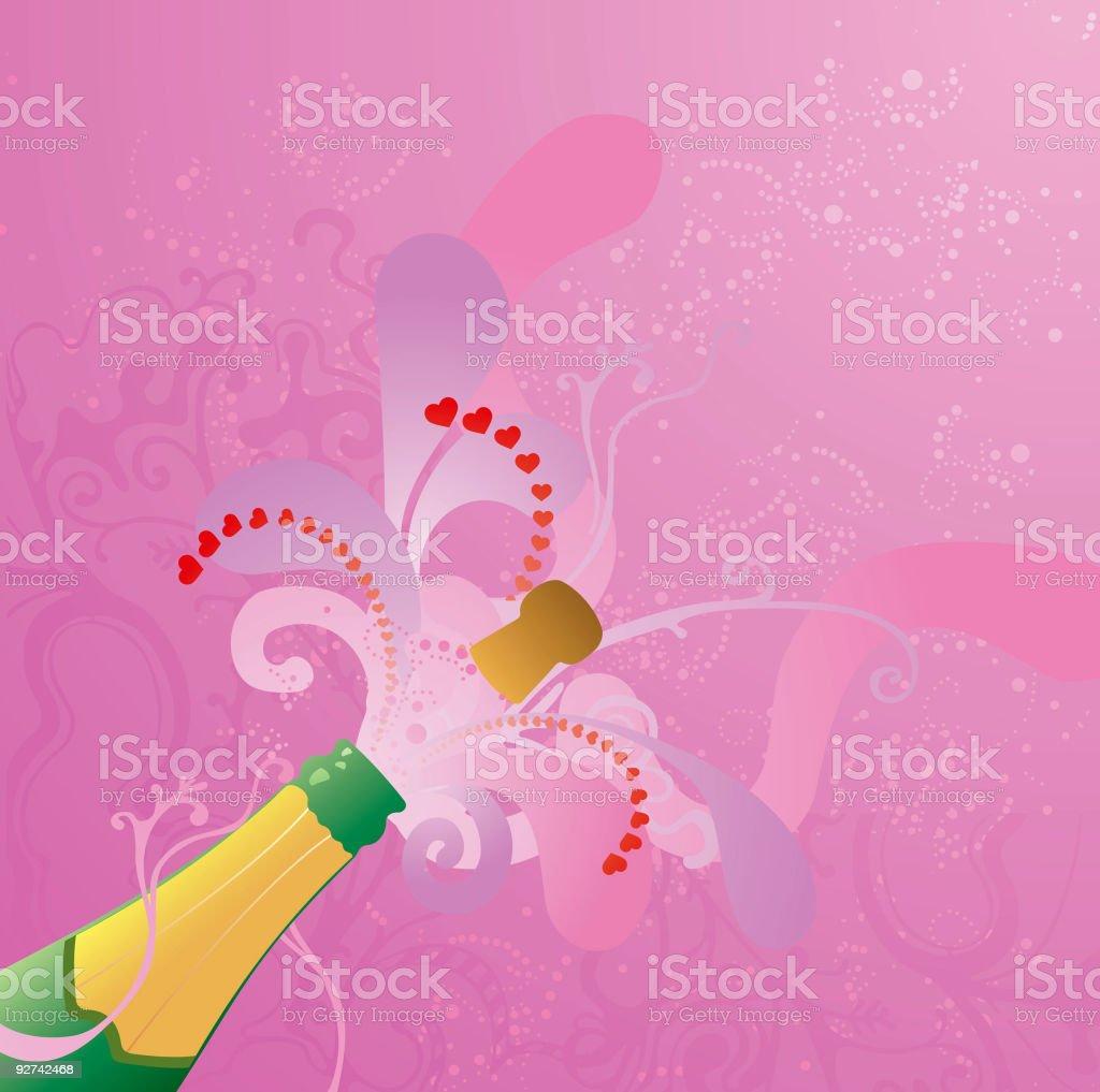 Celebrating Valentines - illustration royalty-free stock vector art