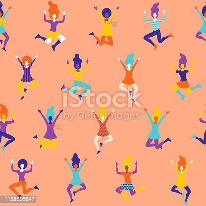 Celebrating Women Seamless Pattern