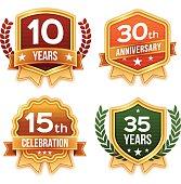 Celebration and Award Badges and Ribbons