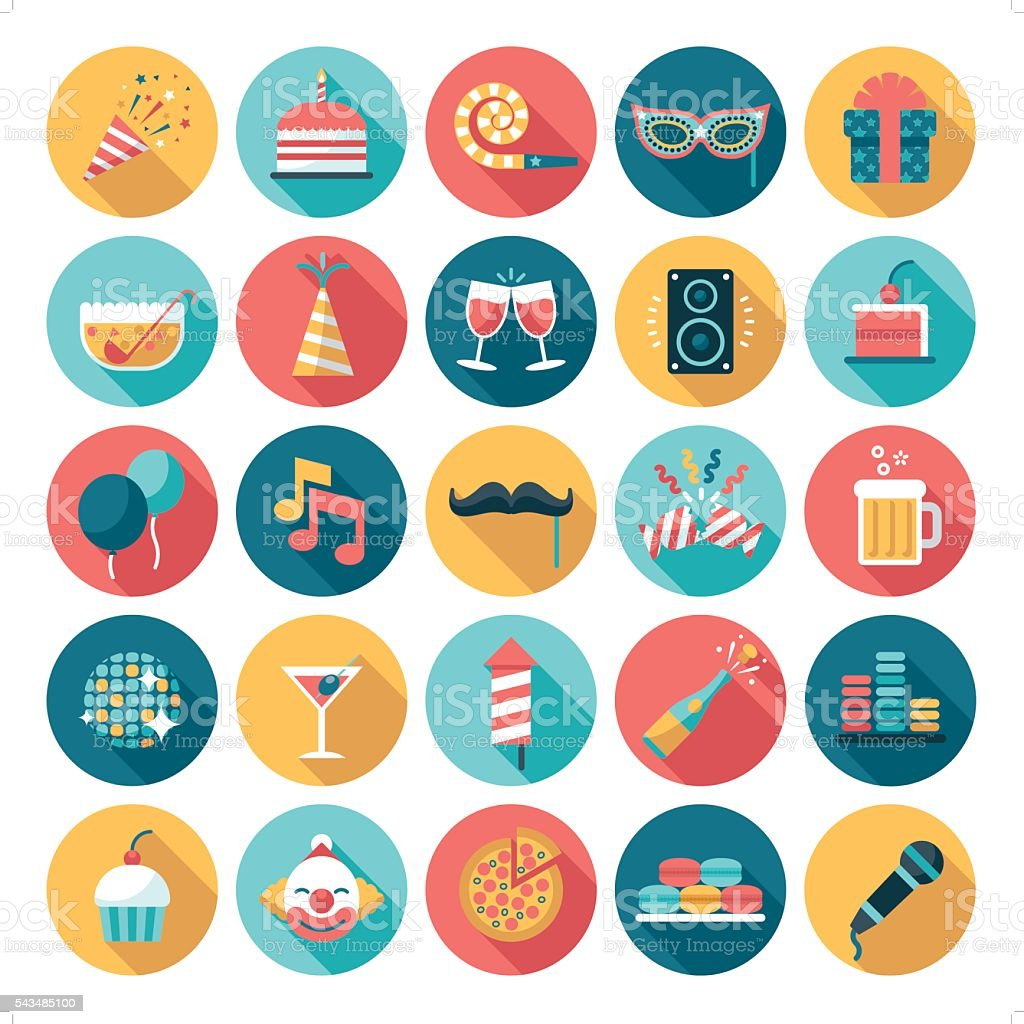 celebration and party icon vector art illustration