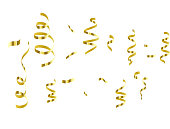 Celebration background template with confetti and gold ribbons set. luxury greeting rich card.