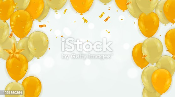 Celebration background templates are used for New Years events, parties, birthdays, and any other event that consists of a cheerful theme with golden balloons.