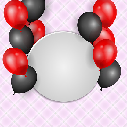 Celebration background with glossy colorful balloons