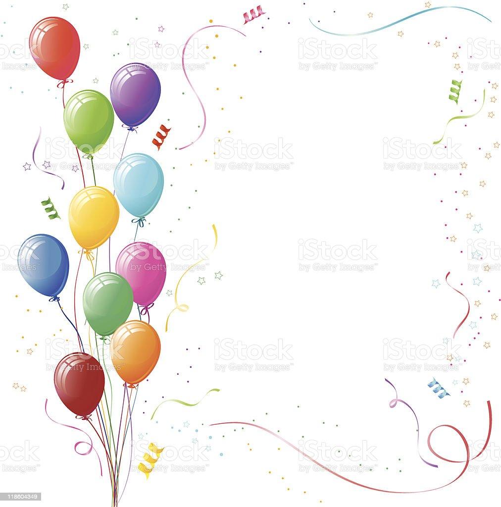 C l bration des ballons et cotillons vecteurs libres de droits et plus d 39 images vectorielles de - Image cotillons fete ...