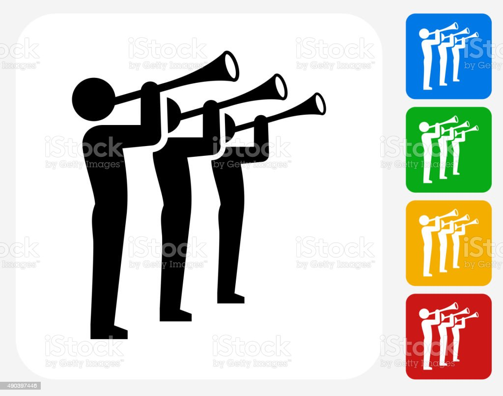 Celebration Band Icon Flat Graphic Design vector art illustration