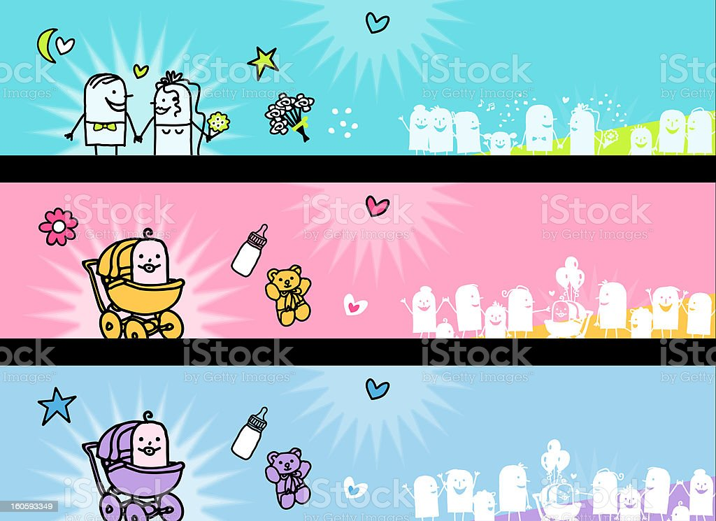 celebration banners - wedding & baby birth royalty-free celebration banners wedding amp baby birth stock vector art & more images of baby