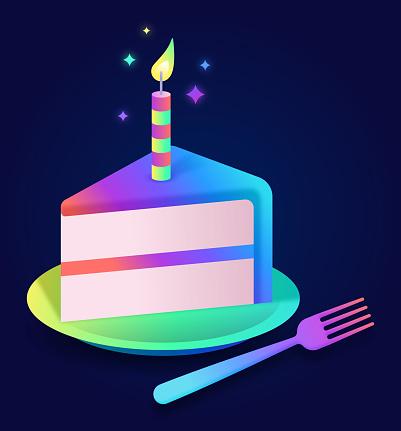 Celebration Birthday Cake Party Cake Slice