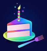 istock Celebration Birthday Cake Party Cake Slice 1296518027