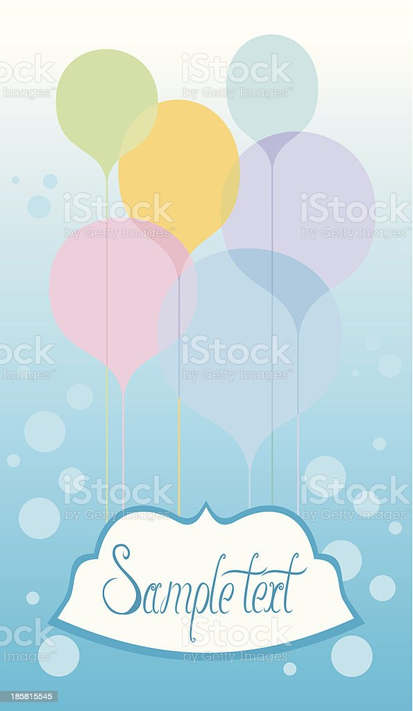 Celebration card with balloons royalty-free celebration card with balloons stock vector art & more images of balloon