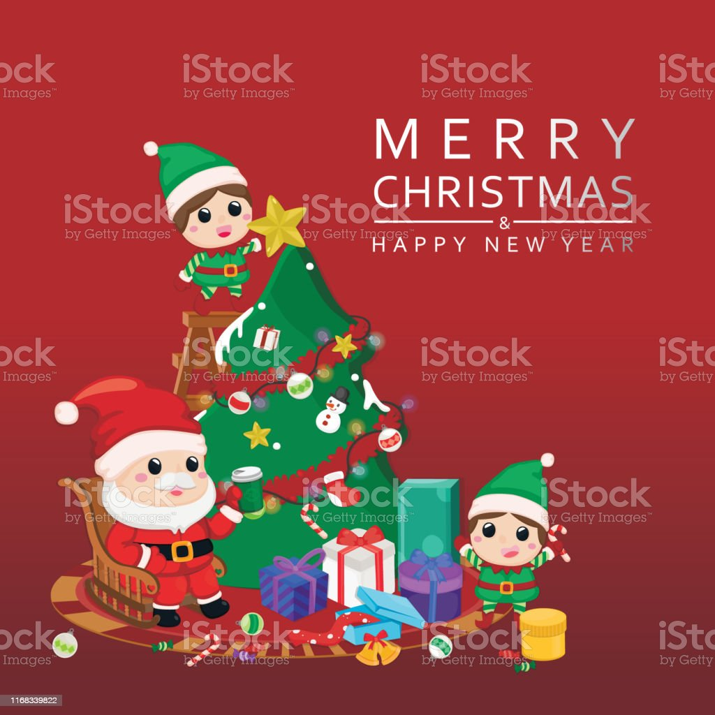 Celebration Christmas festive greeting card. Merry christmas with...