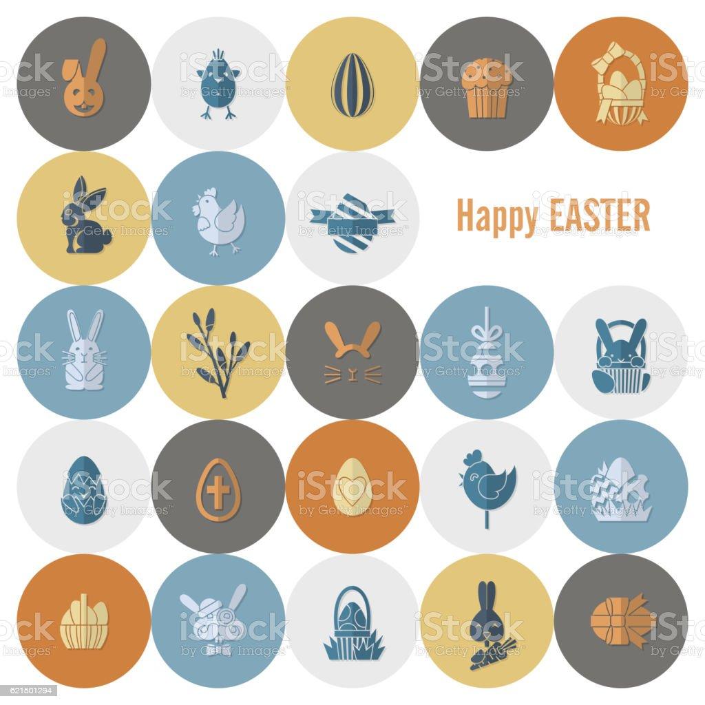 Célébration d'icônes de Pâques célébration dicônes de pâques – cliparts vectoriels et plus d'images de carré - composition libre de droits