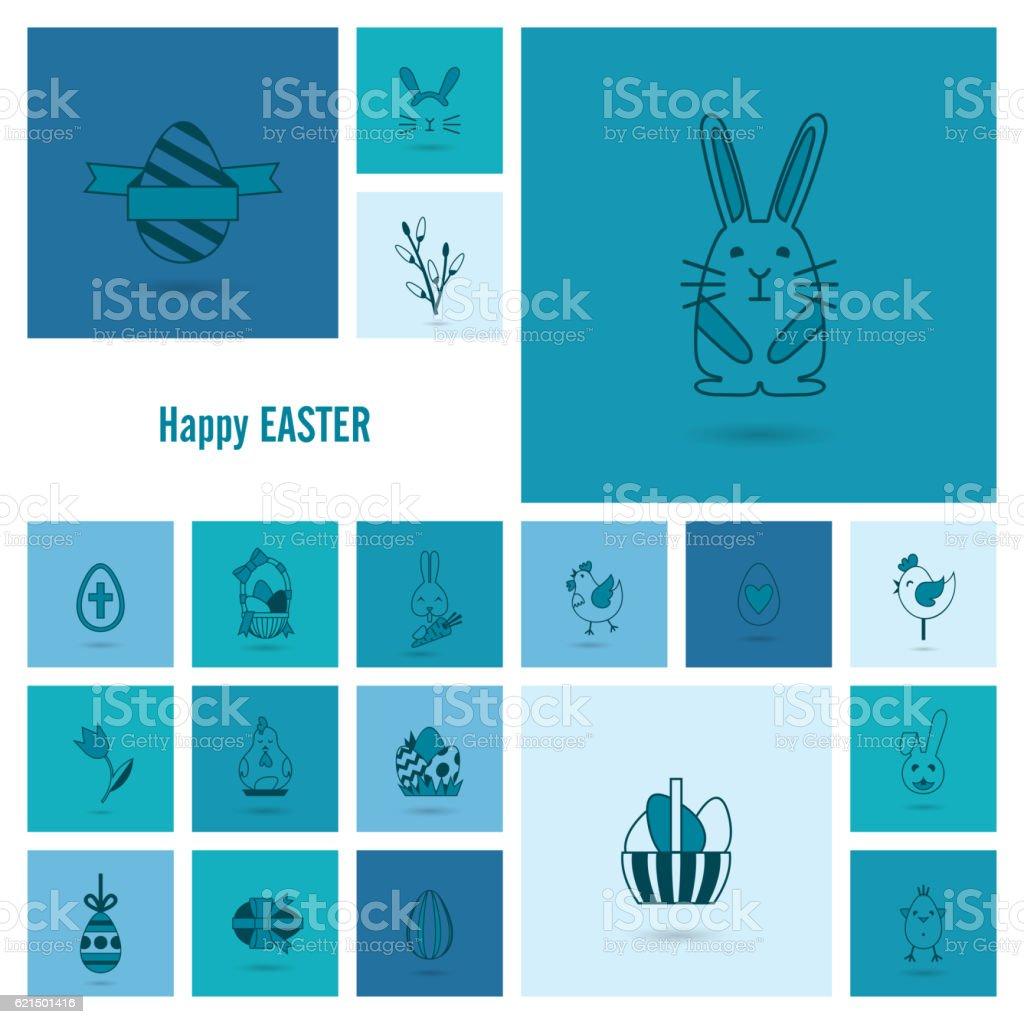 Celebrazione di icone di Pasqua celebrazione di icone di pasqua - immagini vettoriali stock e altre immagini di animale royalty-free
