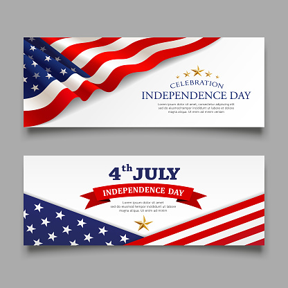 Celebration flag of america independence day banners collections