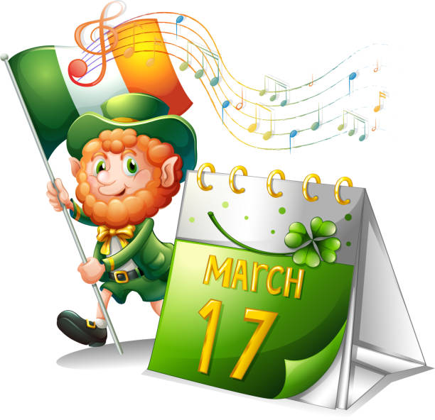 celebration for st. patrick - old man pic pictures stock illustrations, clip art, cartoons, & icons