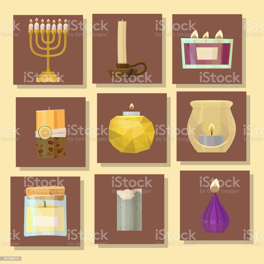 Fest Leuchtenden Religion Kerzen Geburtstag Traditionelle Dekoration