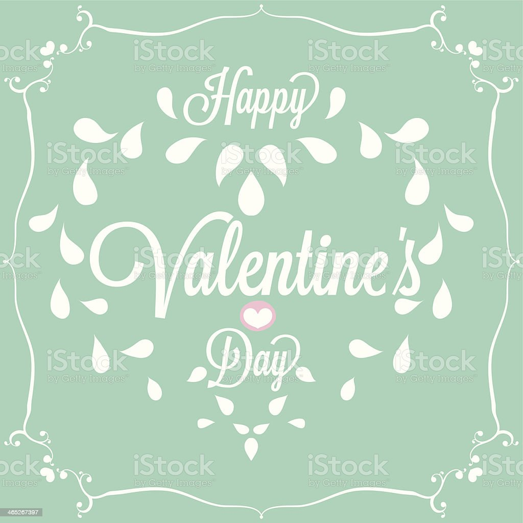 Celebration. Happy Valentine's Day in blue background royalty-free stock vector art