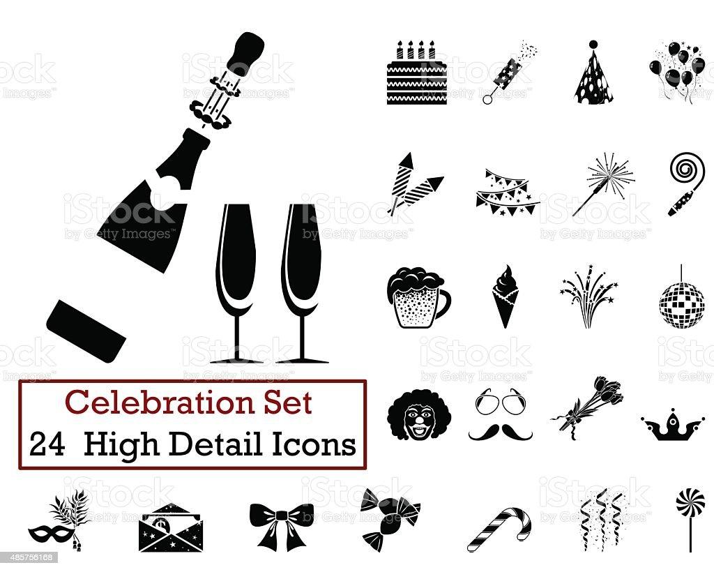 24 Celebration Icons vector art illustration