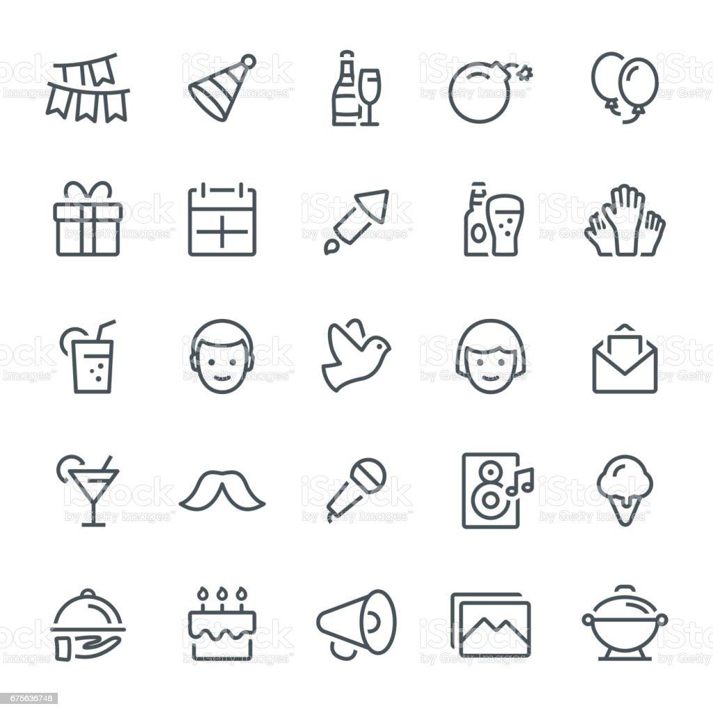 Célébration d'icônes - Illustration vectorielle