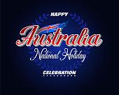Celebration of Australia Day, holiday