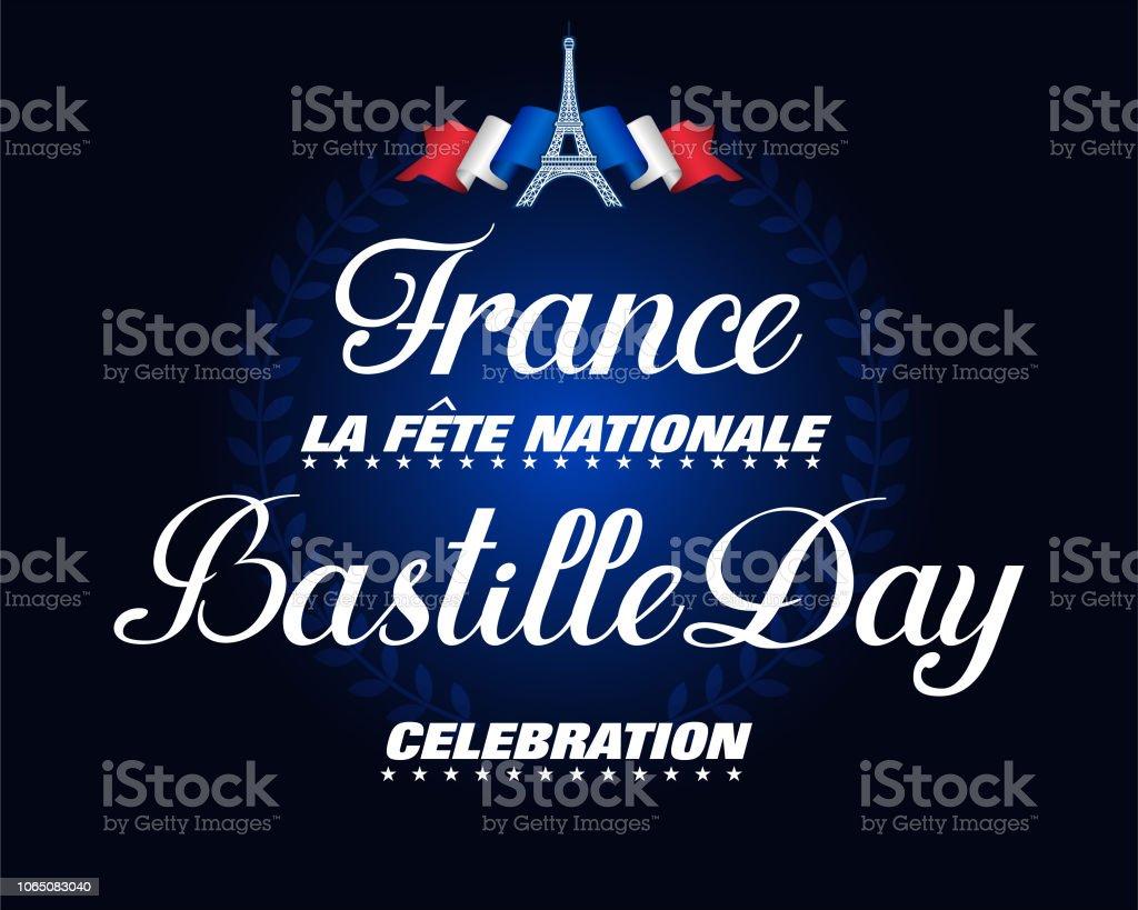 Célébration de la fête nationale, fête nationale en France - Illustration vectorielle