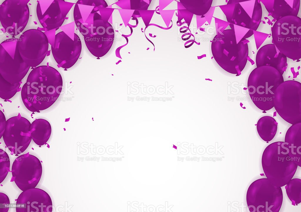 Celebration party banner with purple balloons background sale vector celebration party banner with purple balloons background sale vector illustration template royalty free maxwellsz
