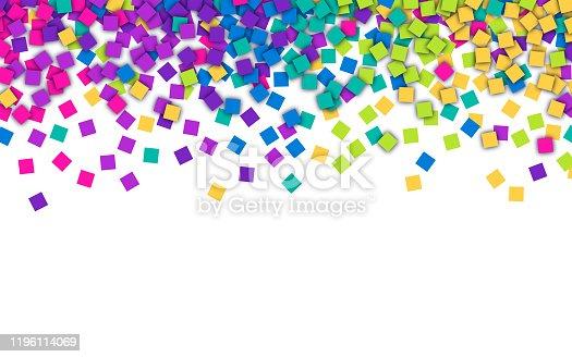 Celebration party rainbow confetti party.