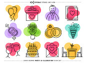 Creative and attractive doodle icons set of celebration and partying. Would be perfect vector illustration for those looking to design mobile applications, web pages, stationery, cards and more.