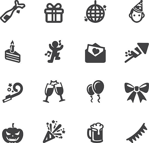 Celebration Silhouette icons | EPS10 vector art illustration