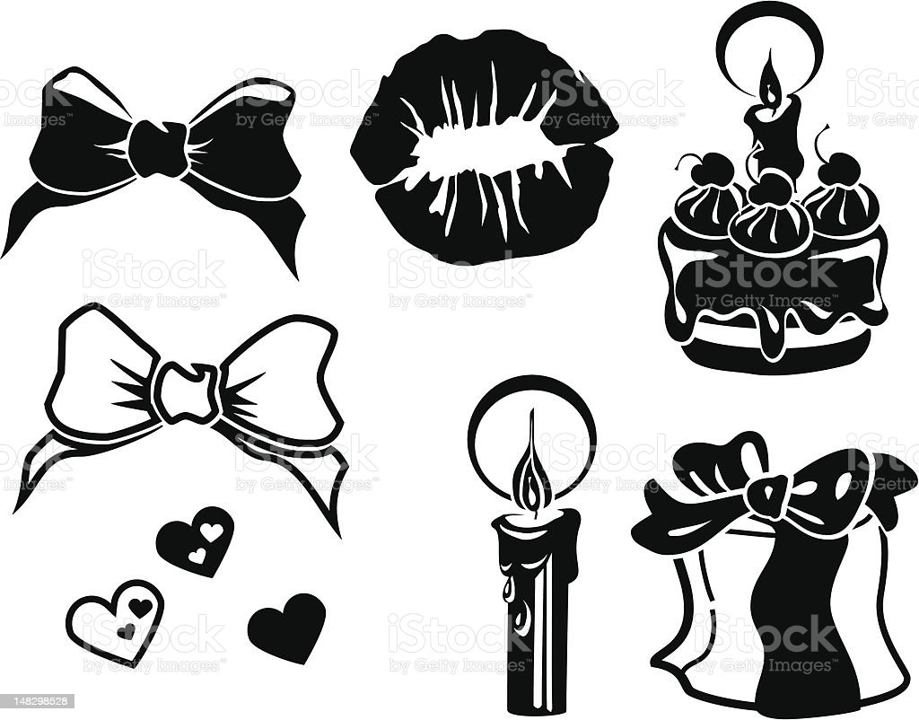 Celebration silhouettes royalty-free stock vector art