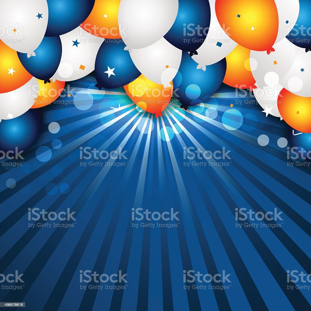 Celebration vector background with colorful balloons and confetti. vector art illustration