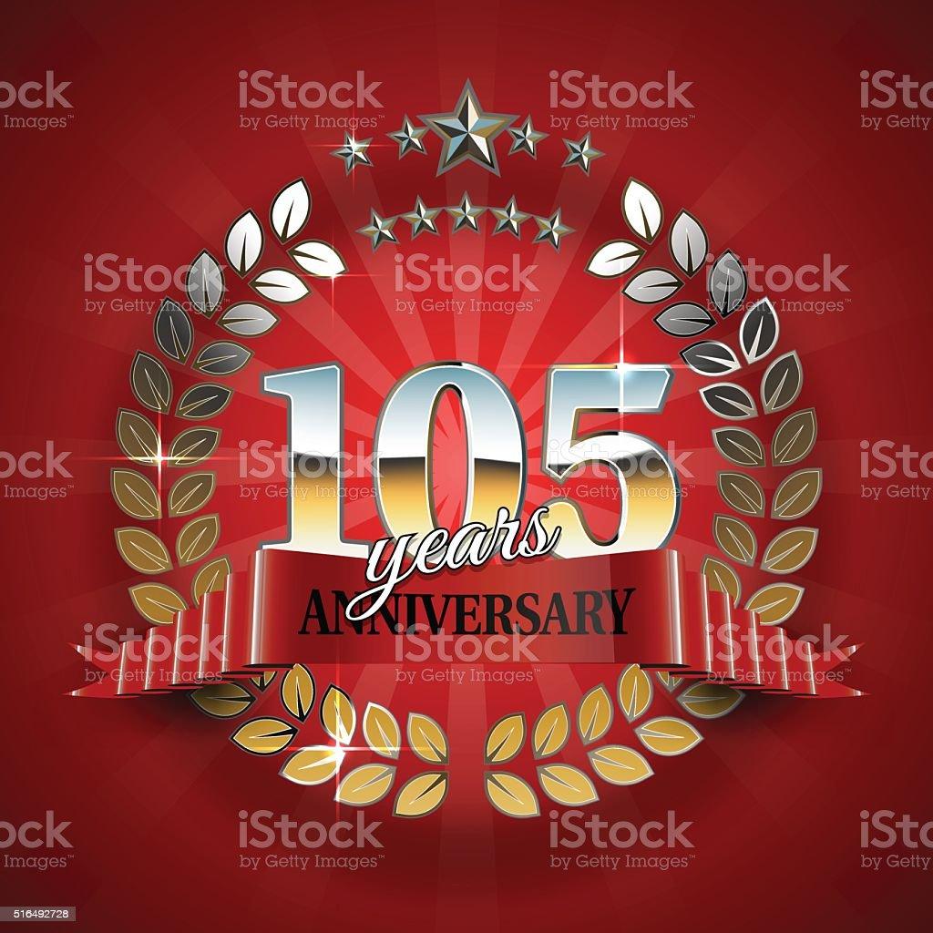 Feierlicher Golden Frame für 105th Jubiläum – Vektorgrafik