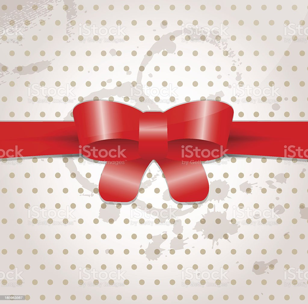 Celebratory background with bow royalty-free stock vector art