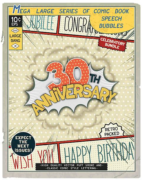 Celebratory retro comics speech bubble vector art illustration