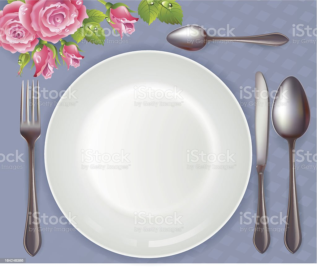 Celebratory tableware royalty-free stock vector art