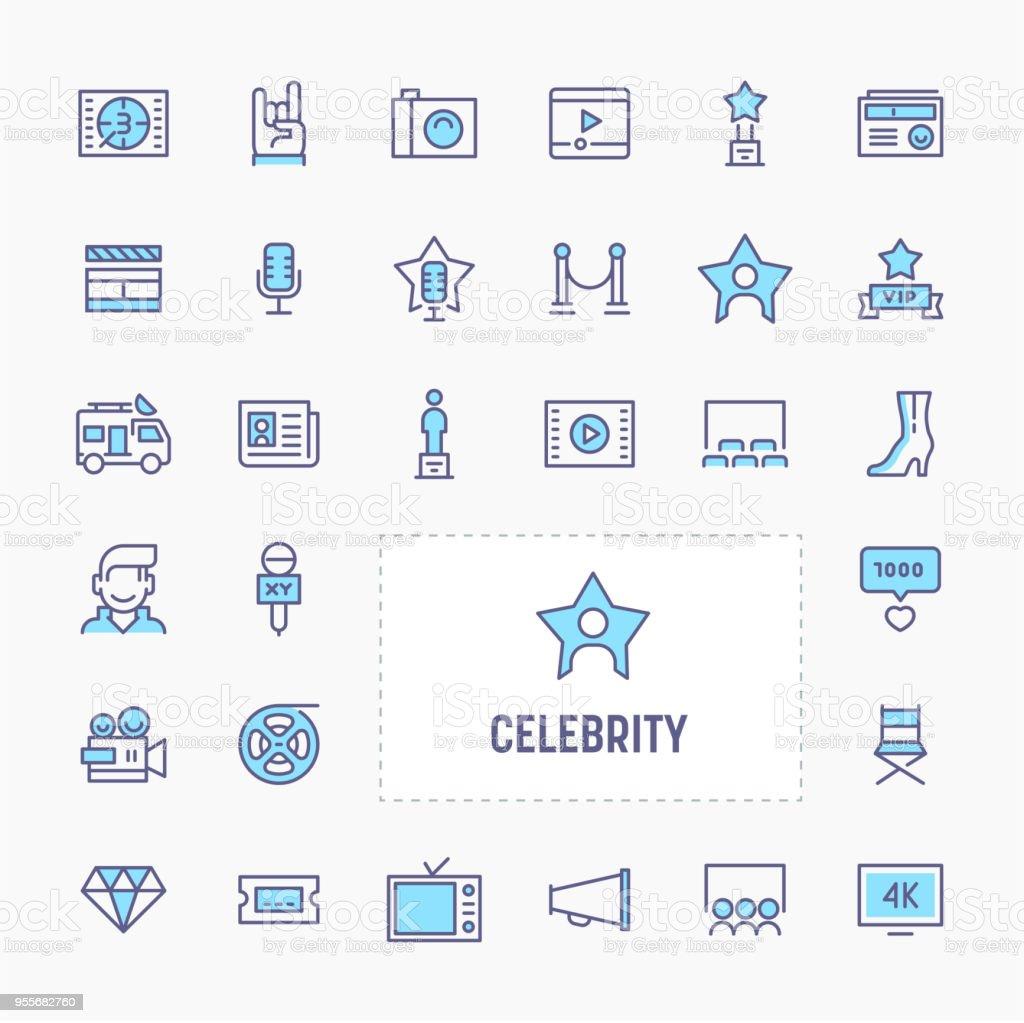 Promi-Icon-Set – Vektorgrafik