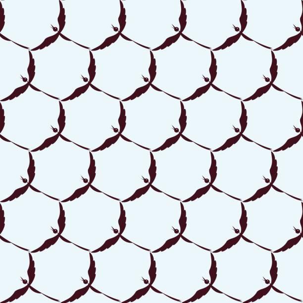Cell for birds vector art illustration