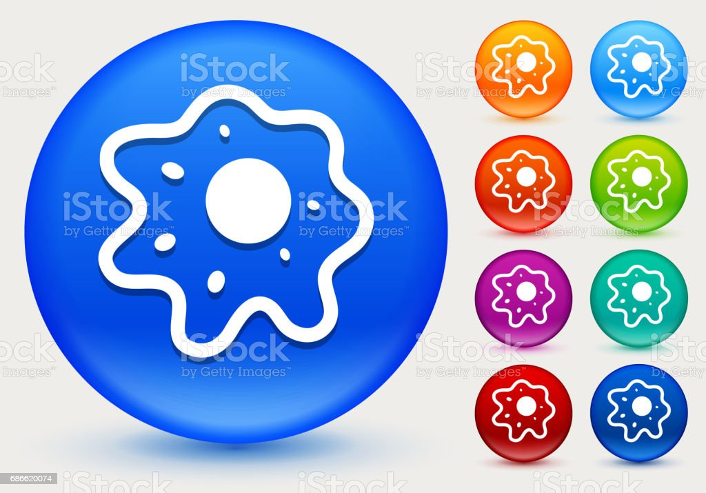 Cell Icon on Shiny Color Circle Buttons royalty-free cell icon on shiny color circle buttons stock vector art & more images of biology