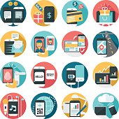 A set of 16 mobile activities icon set.