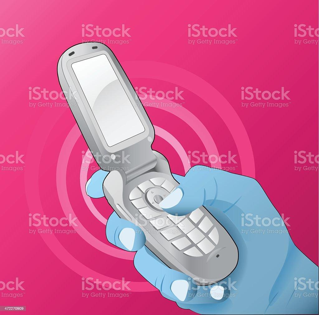 Cell Phone Concept [vector] royalty-free stock vector art