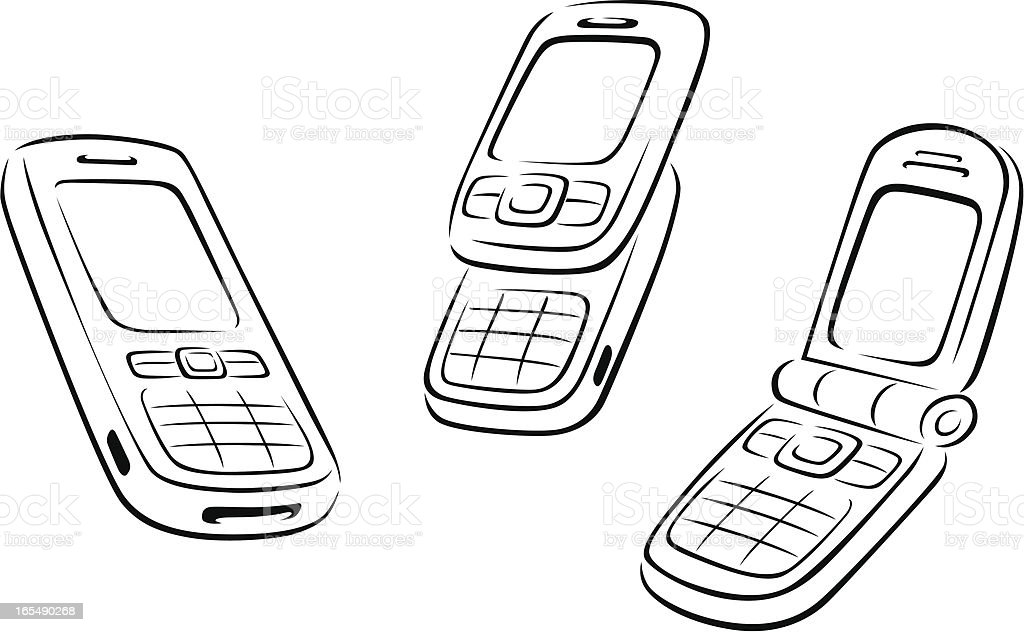 Cell Phones royalty-free stock vector art