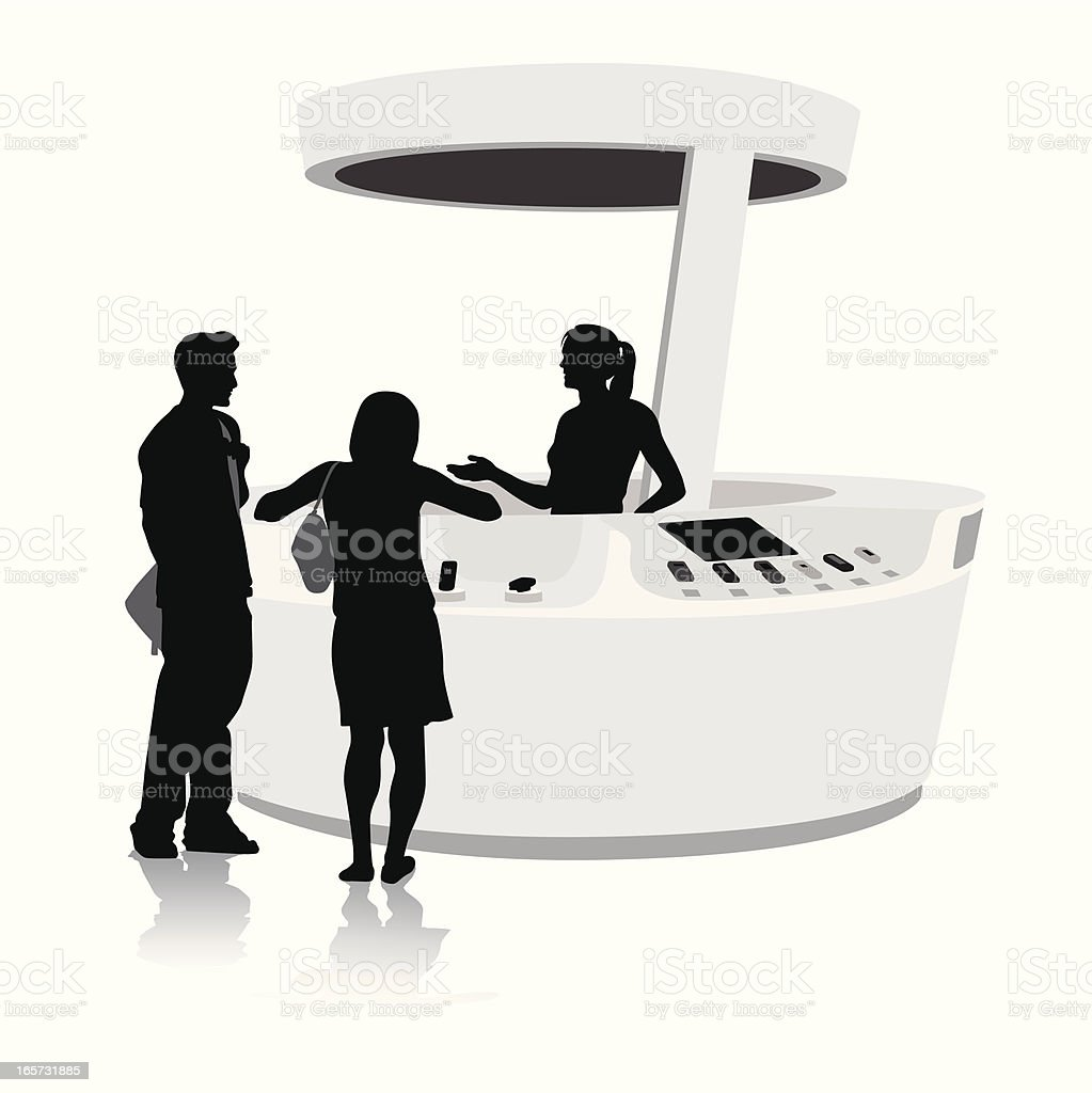 Cell Sales Vector Silhouette royalty-free stock vector art